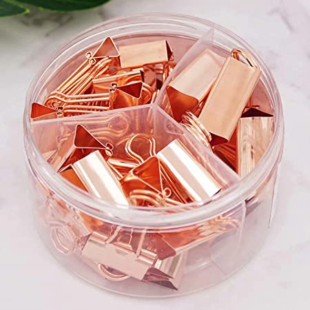 Binder Clips Paper Clips Push Pins Assorted 7pcs Medium Binder Clips, 15pcs Small Binder Clips, 30pcs Paper Clips, 20pcs Push Pins for Office and School Supplies