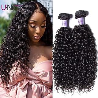 UNice Hair Kysiss Series Brazilian Curly Hair 3 Bundles Virgin Hair Weave 100% Unprocessed Human Hair Extensions Natural Color (12 14 16)