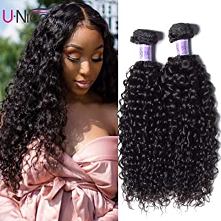 UNice Hair Kysiss Series Brazilian Curly Hair 3 Bundles Virgin Hair Weave 100% Unprocessed Human Hair Extensions Natural Color (16 18 20)