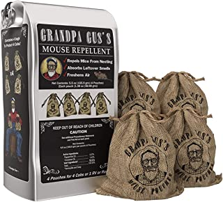 Grandpa Gus`s Mouse Repellent; Peppermint and Cinnamon Oil, Freshen Air, Repel Mice from Nesting and Absorbs Leftover Odor...