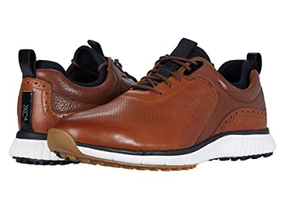 Johnston & Murphy Waterproof XC4(r) Golf H1-Luxe Hybrid Sneaker (Tan Waterproof Full Grain) Men