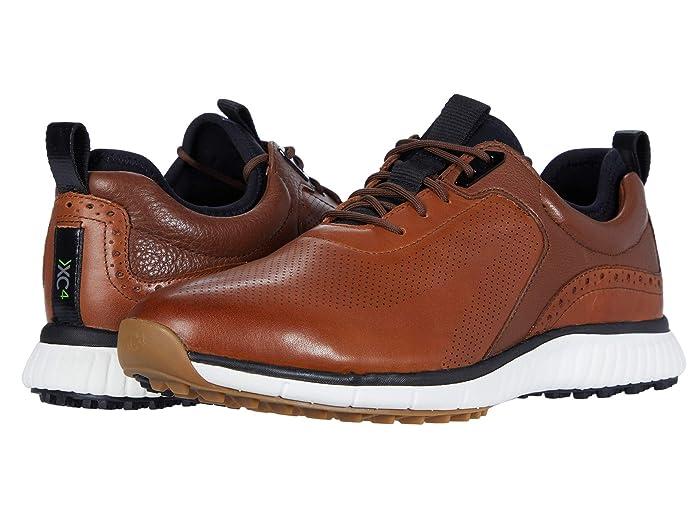 Johnston and Murphy  Waterproof XC4 Golf H1-Luxe Hybrid Sneaker (Tan Waterproof Full Grain) Mens Shoes