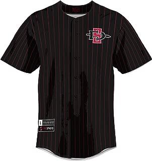 ProSphere San Diego State University Men's Replica Baseball Jersey - Pinstripe