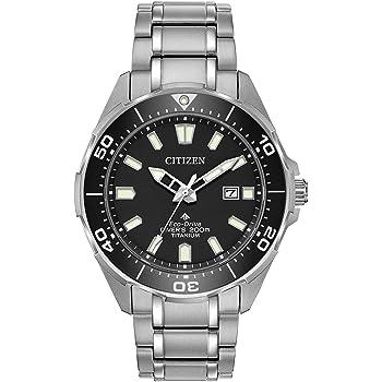 Citizen Men's Quartz Sport Watch with Stainless Steel Strap, Silver, 22 (Model: BN0200-56E)