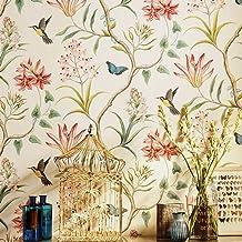American país rústico Peel y Stick rollo de papel pintado para la pared Vintage floral non-woven Self Ahesive mariposa pájaros papel de contacto papel de pared para dormitorio sala de estar de pared