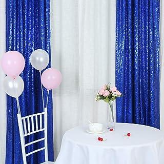 TRLYC Pailletten Hintergrund, Pailletten Hintergrund, Fotohintergrund, Pailletten Vorhang, Königsblau, 2 x 2 m