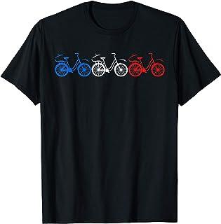 Les couleurs du drapeau américain à bicyclette Voyager T-Shirt