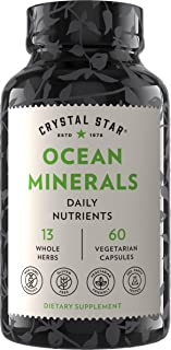 Crystal Star Ocean Minerals Supplement (60 Capsules) – Daily Herbal Supplement for Bone Health & Collagen – Sea Buckthorn,...