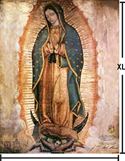 Virgen de Guadalupe GIGANTE Lienzo Real - XL LARGE Our Lady of Guadalupe Real Canvas Poster - 1.20 m (47 in) x 94 cm (37 in)