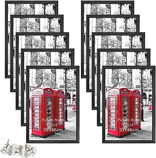 Giftgarden 12×18 Bilderrahmen Schwarz Posterrahmen Set für 30,5 x 45,7 cm Foto..