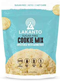 Lakanto Sugar-Free Cookie Mix, Gluten-Free, Keto Baking with Monkfruit Sweetener