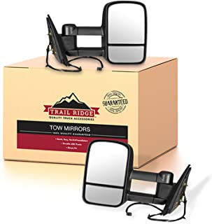 Best Trail Ridge Tow Mirror Power Heated Textured Black Pair Set for Silverado Sierra Review
