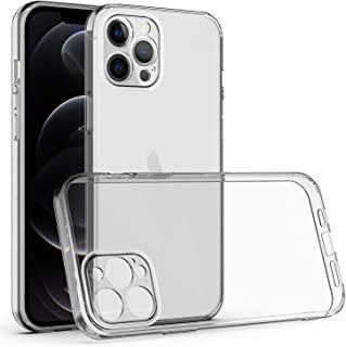 Clear Case for iPhone 12/12 Pro 6.1'' Soft TPU Shockproof Case