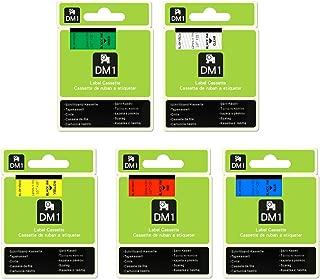 5 Pack Compatible DYMO D1 Label Cassette, 45010 Dymo D1 Labels Tape 12mm 1/2 inch,23 Feet(7m),45010 45013 45016 45017 45019 for DYMO LabelManager PnP 260P 210D 280 420 160 450D Label Maker