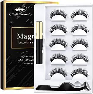AOVSHEY Magnetische Wimpern Magnetic Eyeliner 5 Magnete Wimpern Mit Wasserdichtem..