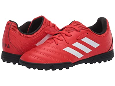 adidas Kids Copa 20.3 TF J Soccer (Little Kid/Big Kid) (Active Red/White/Black) Kids Shoes