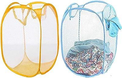 Kuber Industries Nylon 2 Piece Mesh Laundry Basket,20Ltr (Multi)-CTKTC21511