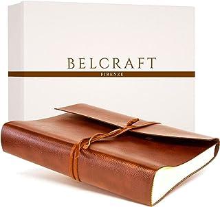Belcraft Tivoli Large Bonded Leather Photo Album, Handmade Classic Italian Style, Including Special Box, A4 (23x30 cm) Tan