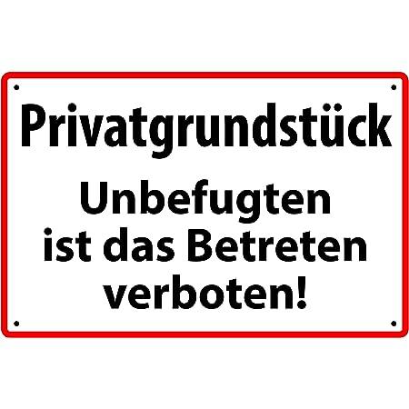 Kein öffentlicher Durchgang Hinweisschild Aluminium Schild W//R//S 20x30cm 37