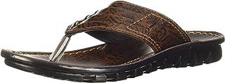 PARAGON Men's Brown Formal Thong Sandals - 8 UK/India (42 EU)(PU6728-6)