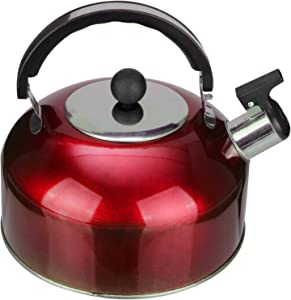 Cabilock Tea Kettle Stovetop with Handle Stainless Steel Whistling Teapot Heating Water Kettle Container for Kitchen Coffee Office Home 3L