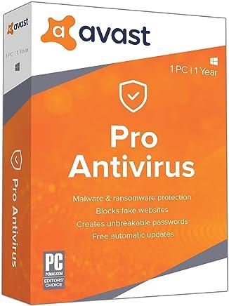avast. Pro antivirus, 1PC, 1año clave de [tarjeta]