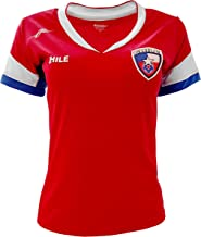 Chile New Arza Women Jersey Red Slim Fit with V Neck 100% Polyester