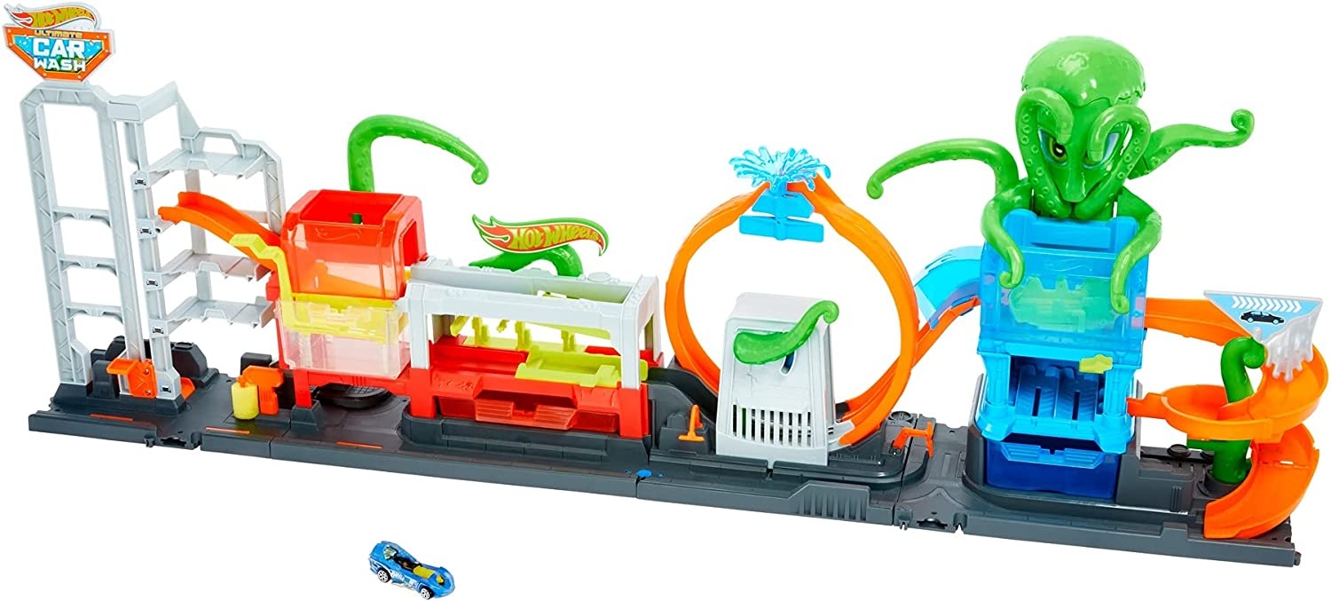 Hot Wheels City Ultimate Octo Car No-Spill Wash Selling Max 54% OFF Playset with Wat