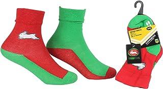 NRL Baby Infant Non-Slip Socks, South Sydney Rabbitohs, 2 Pair