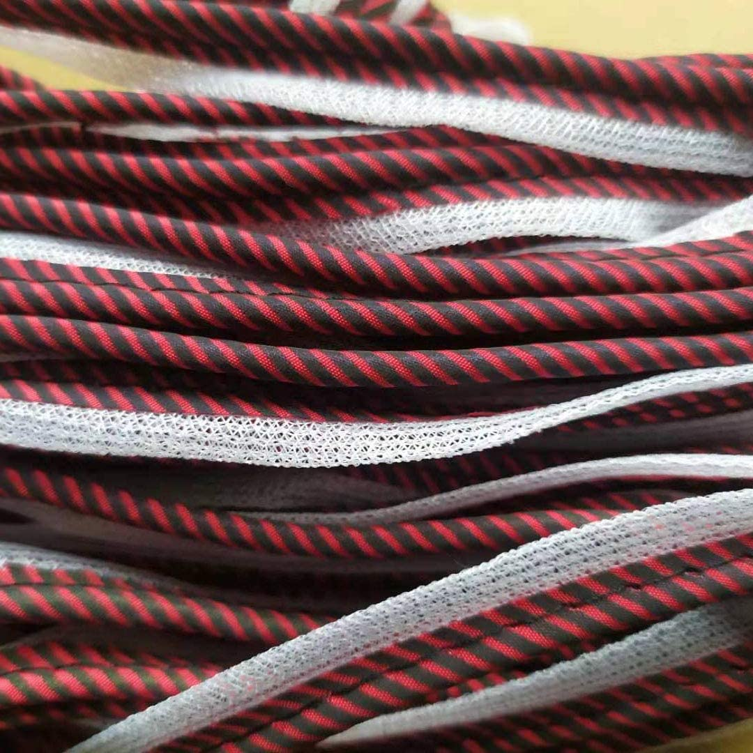 YSSAFE Rainbow Colorful Segmented Reflective Silver Black and Red Piping Strip Fabric 8.75Yards// 8meters Edging Braid Trim Sew On for DIY Customized Clothes Hats and Handbags