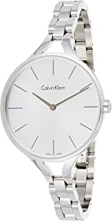 Calvin Klein K7E23146 Womens Quartz Watch, Analog Display and Stainless Steel Strap - Silver