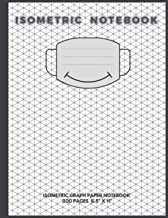 "Isometric Notebook: isometric graph paper notebook 200 pages 8.5"" X 11"" with a smiley mask on the cover"