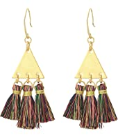 Rebecca Minkoff - Tri Tassel Chandelier Earrings