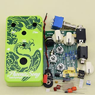 DIY Guitar Overdrive Pedal Effect Pedals Electric Effects Kit OD-1 Green Enclosure