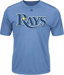 Tampa Bay Rays Wicking MLB Officially Licensed Youth & Adult Authentic Replica Crewneck T-Shirt