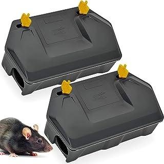 Rat Bait Station 2 Pack - Rodent Bait Station with Key Eliminates Rats Fast. Keeps Children and Pets Safe Indoor Outdoor (...