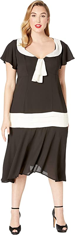 Plus Size Wilshire Flapper Day Dress