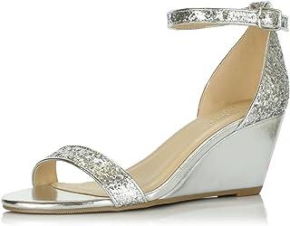 bfad2243156 DailyShoes Women s Summer Fashion Design Ankle Strap Buckle Low Wedge  Platform Heel Sandals Shoes