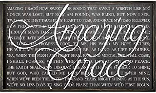 Amazing Grace 32 x 20 Wood Framed Wall Sign Plaque