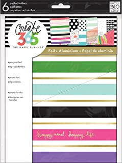 The Happy Planner Pocket Folders - Multi-Color - 6 Pre-Punched Designer Pocket Folders - Extra Planner Storage - Keep Receipts, Bills, Invitations, Stamps, Photos & Extra Papers - Classic Size
