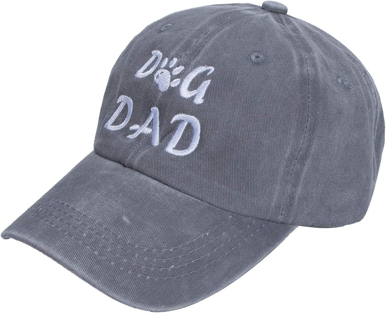 ZOORON Unisex Dog Dad Baseball Cap Hat Vintage Jeans Adjustable Distressed Blessed Faith Hat Washed