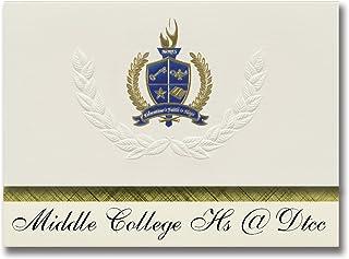 Signature Announcements Middle College Hs @ Dtcc (Durham, NC) Graduation Announcements, Presidential style, Basic package ...
