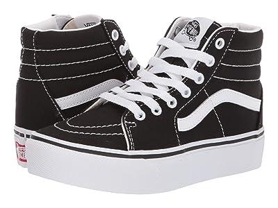 Vans Kids SK8 Hi Platform 2 (Little Kid/Big Kid) (Black/True White) Girls Shoes