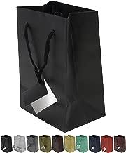 Novel Box® Black Matte Laminated Euro Tote Paper Gift Bag Bundle 4.75
