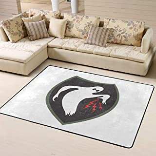 World War II Army Glorious Duty Call 3D Rugs Living Room Carpet for Children Soft Bedroom Floor Mat 63 X 48 in