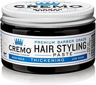 Cremo Premium Barber Grade Hair Styling Thickening Paste, High Hold, Low Shine, 4 Oz