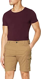 MERAKI Men's Cotton Slim Fit Cargo Shorts