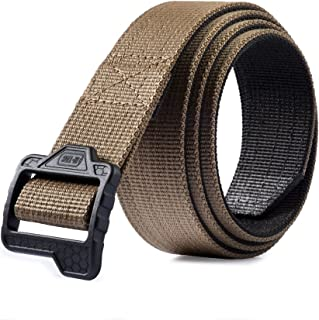 Tactical Belt Double Duty Web Nylon Military Gun Carry Plastic Buckle
