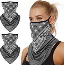 2 Pack Neck Gaiter Washable Multifunction Headwear Elastic Face Scarf Cooling Headband Snood with Dust Sun Protection for Outdoor Sports Dudu Cream Bandana for Kids
