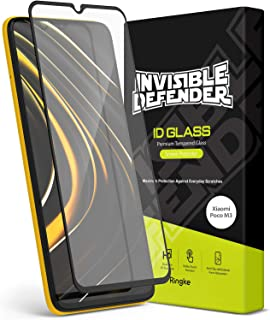 【Ringke】Xiaomi Poco M3 フィルム 強化 ガラス 液晶保護 フィルム 硬度9H 2.5D エッジ HDディスプレイ [Invisible Defender Tempered Glass Screen Protector]